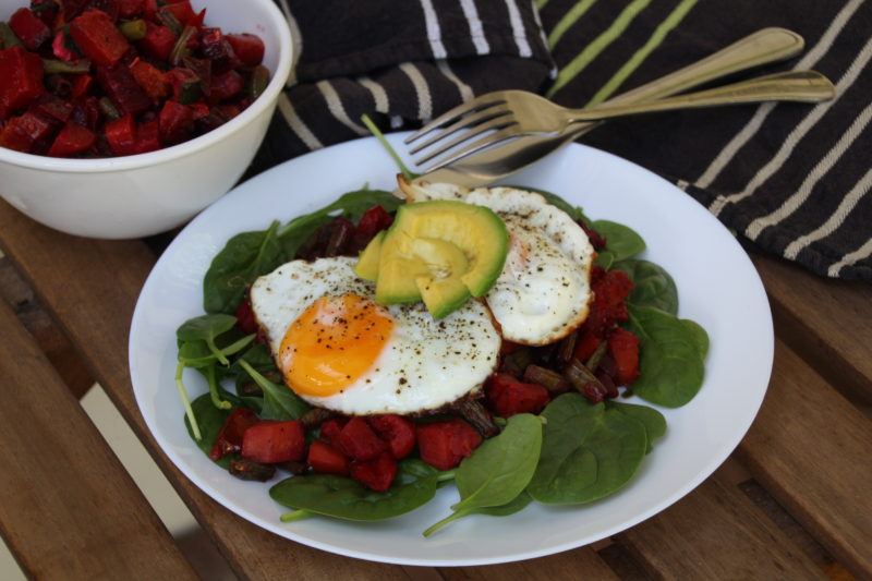 Beetroot and Sweet Potato Hash