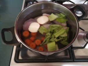 Whole30 Day 3, Chicken Broth Prep