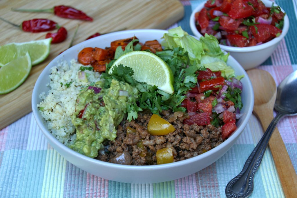 Beef Burrito Bowl (Paleo, Whole30, Low Carb)