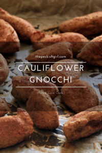 Cauliflower Gnocchi (Paleo, Low Carb)
